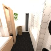 studio29, byt pro dva na vinohradech, koupelna